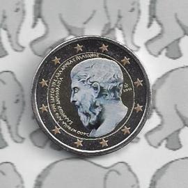 """Griekenland 2 euromunt CC 2013 """"2400 jaar sinds de oprichting van Akademeia door Plato"""" (kleur)"""