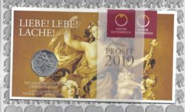 """Oostenrijk 5 euromunt 2019 (35e) """"Levenslust"""" (zilver in blister X)"""