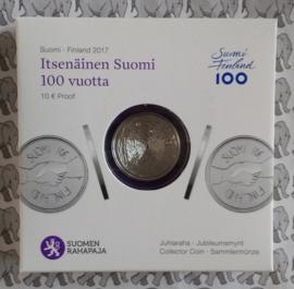 """Finland 10 euromunt 2017 """"100 jaar onafhankelijkheid"""""""