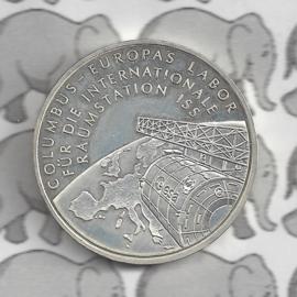 """Duitsland 10 euromunt 2004 (17e) """"Columbus Eur.Lab. voor Ruimtestation"""" (nikkel)."""