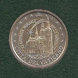 """Vaticaan 2 euromunt CC 2005 """"Wereld Jongeren dag Keulen"""" (in blister)"""