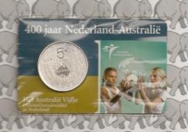 """Nederland 5 euromunt 2006 (8e) """"400 jaar Nederland-Australië"""" (in coincard, zilver)"""