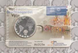 """Nederland 5 euromunt 2012 (22e) """"Grachtengordel vijfje"""" (in coincard)"""