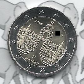 """Duitsland 2 euromunt CC 2016 """"Zwinger van Dresden, Saksen"""""""