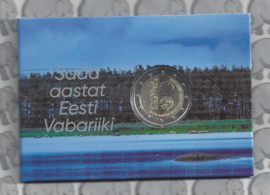 "Estland 2 euromunt CC 2018 (6e)""100 jaar republiek Estland""  (in coincard)"