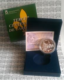 """Spanje 10 euromunt 2016 """"Carlos III"""", proof in doosje met certificaat"""