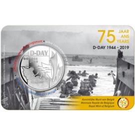 "België 5 euromunt 2019 ""75 jaar D-day"", in coincard"