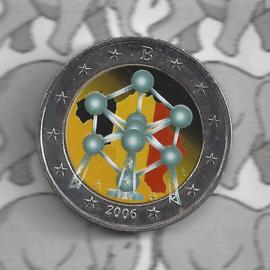 """België 2 euromunt CC 2006 """"Atomium"""" (kleur 2)"""