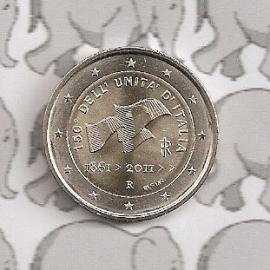 "Italië 2 euromunt CC 2011 ""150 jaar republiek"""