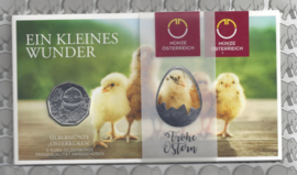 "Oostenrijk 5 euromunt 2021 (40e) ""Paasmunt 2021 - een klein wonder"" (zilver in blister)"