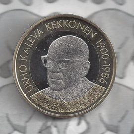 """Finland 5 euromunt 2017 (57e) """"Presidenten, Uhro Kaleva Kekkonen"""""""