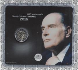 """Frankrijk 2 euromunt CC 2016 """"Francois Mitterrand"""", in blister"""