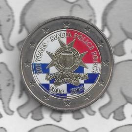 """Malta 2 euromunt CC 2014 """"200 jarig bestaan van de Maltese politie"""" (kleur x)"""