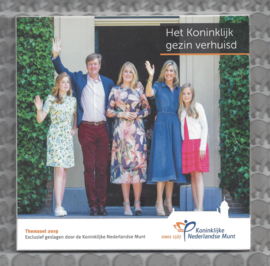"""Nederland BU set 2019 """"Het koninklijke gezin verhuisd"""""""