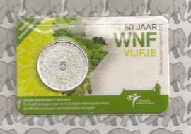 """Nederland 5 euromunt 2011 (19e) """"50 jaar WNF"""" (in coincard)"""