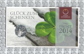 """Oostenrijk 5 euromunt 2014 (25e) """"Neujahr - Folklore"""" (zilver in blister X)"""