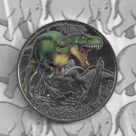 """Oostenrijk 3 euromunt 2020 """"Tyrannosaurus Rex"""" (5 van 12)"""