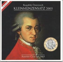 """Oostenrijk BU set 2003 """"Mozart"""""""