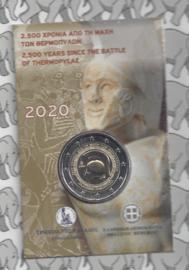 "Griekenland 2 euromunt CC 2020 (21e) ""2500 Jaar na de Slag bij Thermopylae"", in blister"
