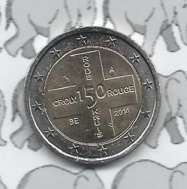 """België 2 euromunt CC 2014 """"150 jaar Belgisch Rode Kruis"""""""