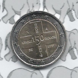 "België 2 euromunt CC 2014 (13e)""150 jaar Belgisch Rode Kruis"""