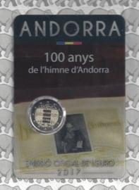"""Andorra 2 euromunt CC 2017 (6e)""""Volkslied van Andorra"""", in coincard"""