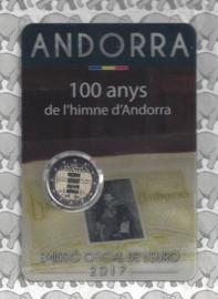 "Andorra 2 euromunt CC 2017 ""Volkslied van Andorra"", in coincard"