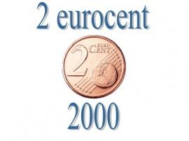 België 2 eurocent 2000