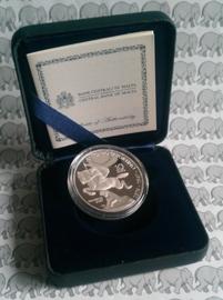 """Malta 10 euromunt 2016 """"Antonio Sciortino"""". Proof, zilver in doosje met certificaat X"""