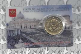 Vaticaan 50 eurocent 2015 in coincard, nummer 6