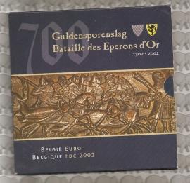 "Belgische BU set 2002 ""Guldensporenslag"