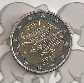 """Finland 2 euromunt CC 2007 (4e)""""90 jaar onafhankelijkheid"""""""