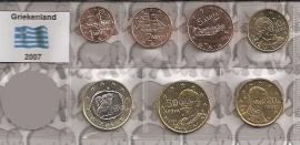 Griekenland UNC serie 2007 (7 munten)
