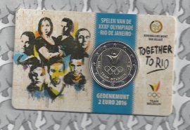 "België 2 euromunt CC 2016 ""Olympische Spelen in Rio de Janeiro"" in coincard Nederlandse versie"