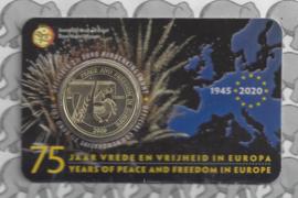 "België 2,5 euromunt 2020 ""75 jaar vrede en vrijheid in Europa"" in coincard Nederlandse versie"