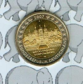 """Duitsland 2 euromunt CC 2007 """"Mecklenburg"""""""