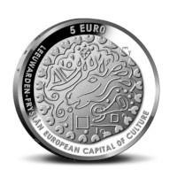 """Nederland 5 euromunt 2018 (37e) """"Leeuwarden vijfje"""" (los)"""