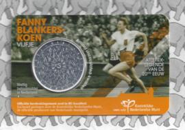 """Nederland 5 euromunt 2018 (38e) """"Fanny Blankers-Koen vijfje"""" (BU, met nummer in coincard)"""