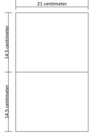 Lukos 2 vakken (voor iedere 4 ringsklapper)