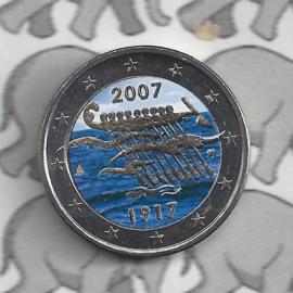 """Finland 2 euromunt 2007 """"90 jaar onafhankelijkheid"""" (kleur x)"""