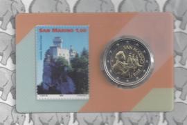 San Marino coincard 2018 nummer 2 met 2 euromunt