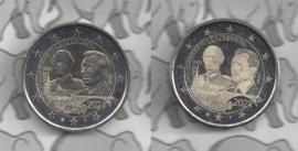 "Luxemburg 2 x 2 euromunt CC 2021 (29e) ""100e Geboortedag van Groothertog Jean"" in reliëf en foto variant"