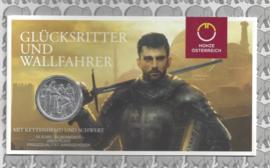 """Oostenrijk 10 euromunt 2019 (36e) """"Adventure"""". Zilver in blister"""