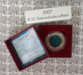 """Oostenrijk 25 euromunt 2007 """"Oostenrijkse Luchtvaart"""" (Niob)"""