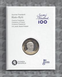 "Finland 5 euromunt 2016 ""Presidenten, Risto Ryti"" (55e), proof in doosje."