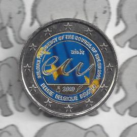 """België 2 euromunt CC 2010 """"EU Voorzitterschap"""" (kleur 1)"""