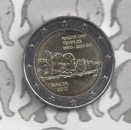 """Malta 2 euromunt CC 2017 """"Tempels van Hagar Qim"""""""