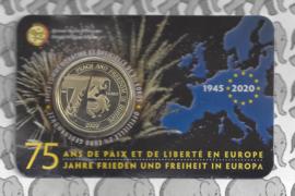 "België 2,5 euromunt 2020 ""75 jaar vrede en vrijheid in Europa"" in coincard Franse versie"