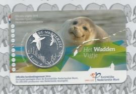 """Nederland 5 euromunt 2016 """"Waddenvijfje"""" (in coincard)"""