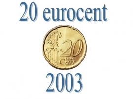 Luxemburg 20 eurocent 2003